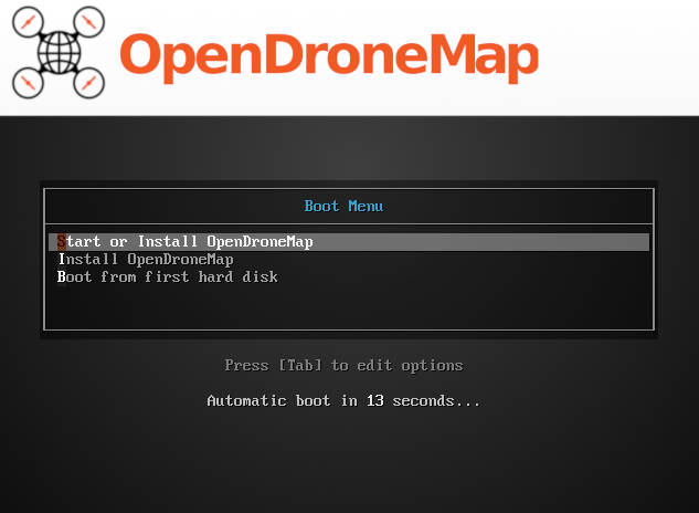 Live CD/USB ISO with OpenDroneMap Pre-Installed - OpenDroneMap