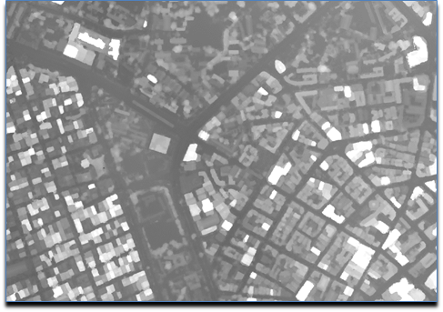 Digital surface model of Dar es Salaam, merged from 4 separately processed split-merge submodules.